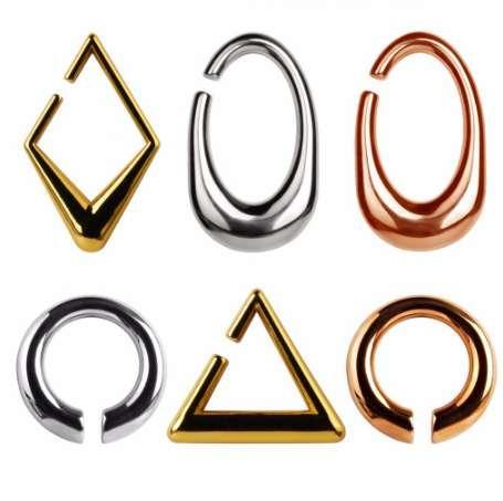Yeni varış ağır kulak ağırlığı 316 L paslanmaz çelik kulak piercing tüneller vücut takı 2 adetgrup çifti