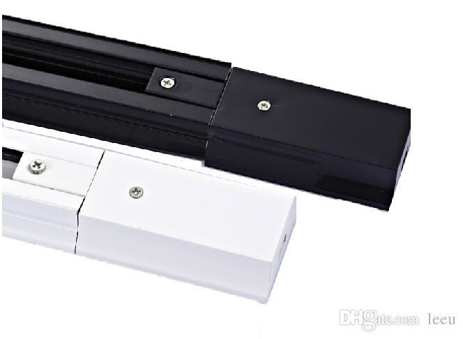 Guida a binario LED da 1M per versione con connettore nero versione Thicken Proiettore a led a corrente alternata AC 85v-265v Track Led nero