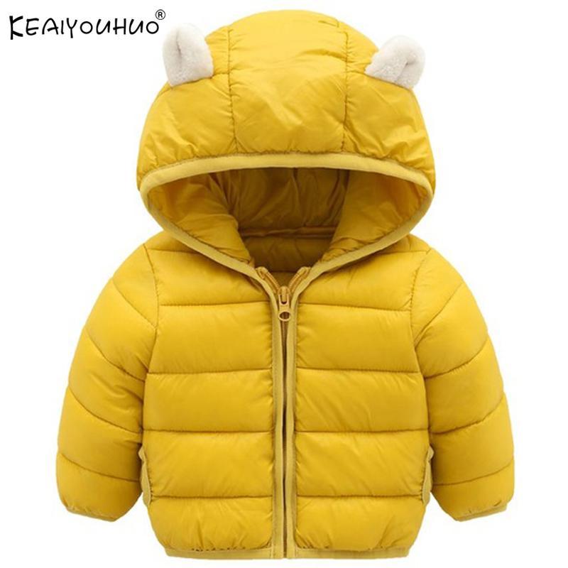 KEAIYOUHUO Jacken für Mädchen Mantel 2018 neue Wintermäntel für Mädchen Daunenjacke Kindermantel Kinder Kleidung Baumwolle mit Kapuze Oberbekleidung