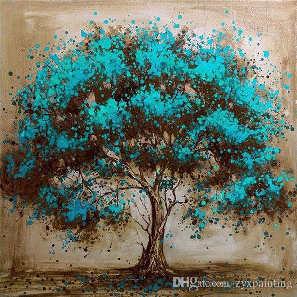f57e3ccd56 Diamond embroidery landscape blue tree diy diamond painting cross stitch  kit resin full round diamond mosaic
