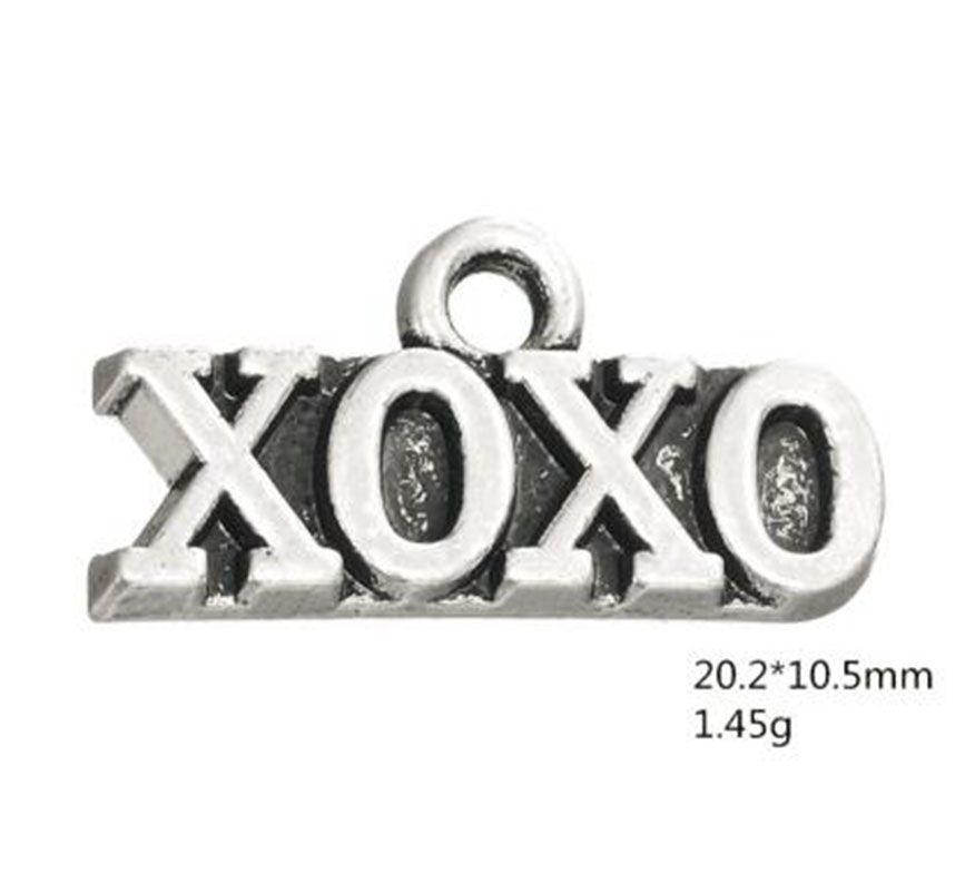 Pequeña decoración del alfabeto XOXO Word Charm Jewelry