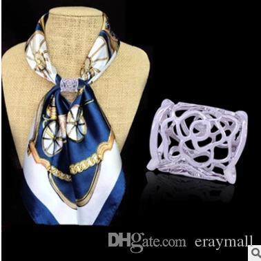 Дешевые шарф пряжки клипы цветы H форма корона шарфы пряжки шарф подарочный набор шнек много стилей