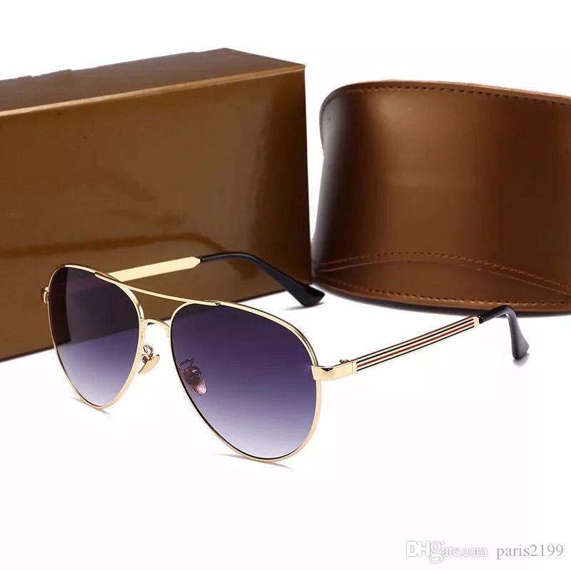 2018 occhiali da sole firmati di alta qualità per uomo moda montatura in metallo uomo occhiali polarizzati guidare occhiali da sole da viaggio con scatola originale