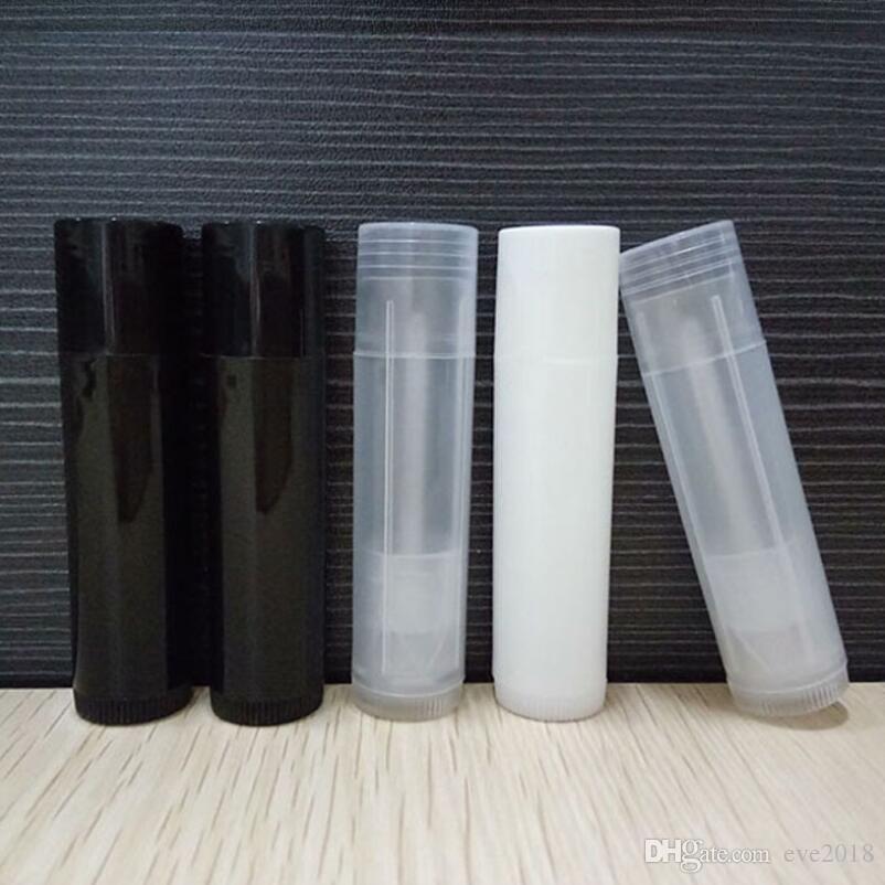 Мода 5 мл черный / белый / прозрачный цвет пустая помада блеск для губ помада бальзам трубка пластиковый косметический контейнер LX3030