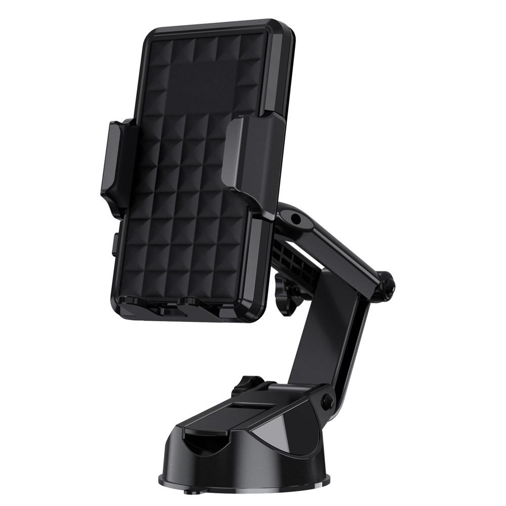 New high quality Telescopic guide car phone holder Flexible Fold Vehicle Sucker Mobile Phone Bracket 360 Rotating Automobile