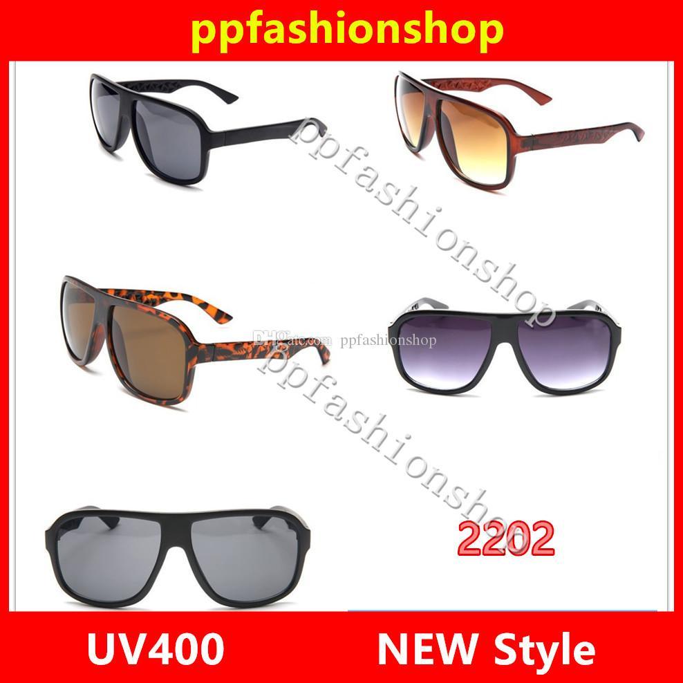 2202 Sunglasses Marque Designer Hommes Femmes Square Cadre UV Protection Lens Top Qualité avec boîte d'origine