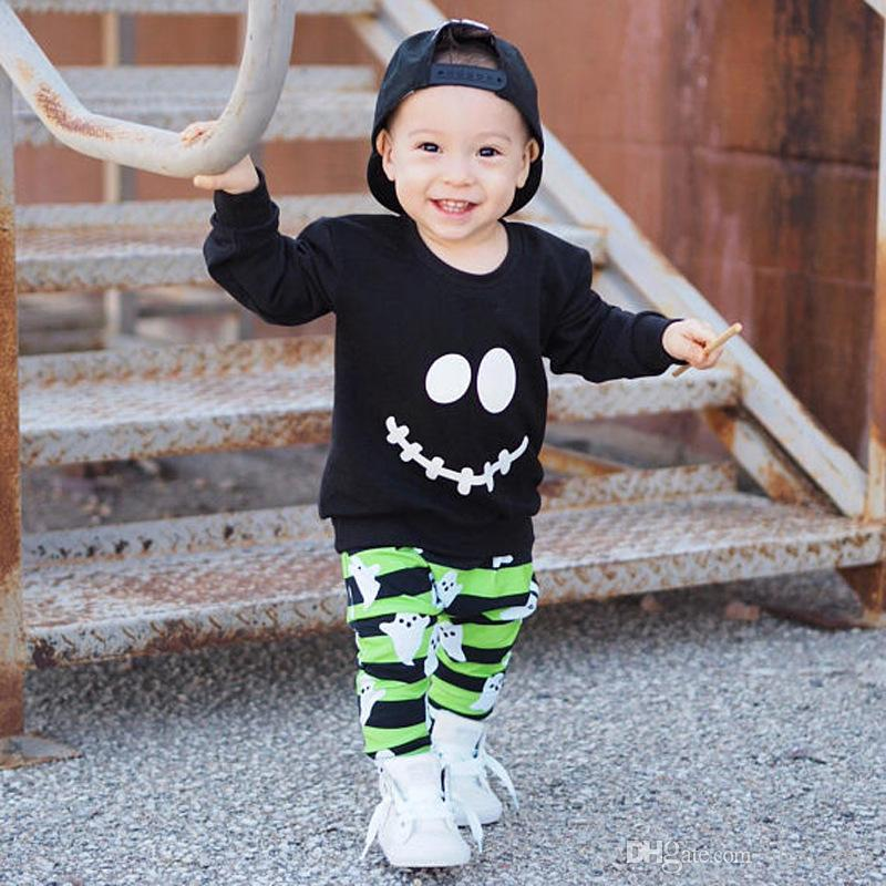 Emoji Faces One-Piece Suit Long Sleeve Home Outfit for Baby Boys Girls