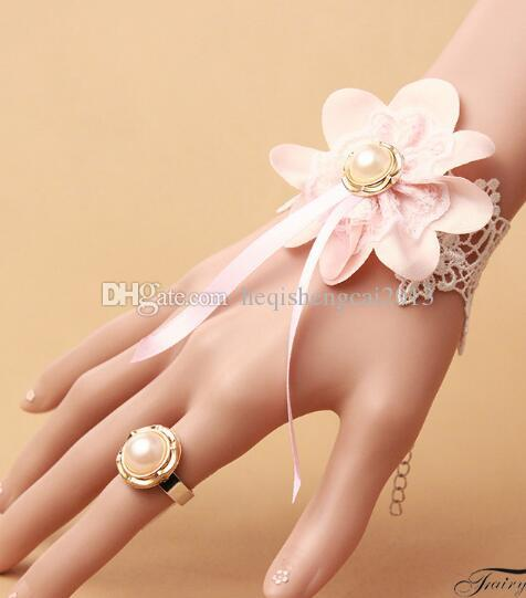 free shipping European and American fashion original design new pink flower lace bracelet fashion classic delicate elegance
