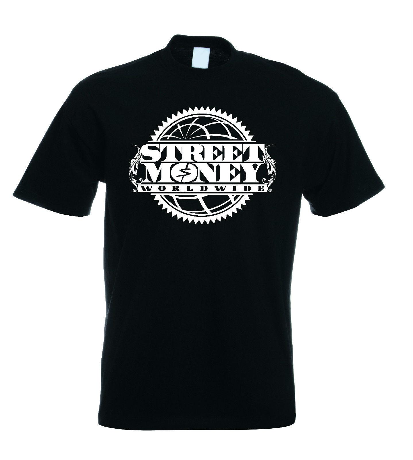 Bankroll Fresh T Shirt Street Money Worldwide Trap الرجال تي شيرت طباعة القطن قصير الأكمام تي شيرت