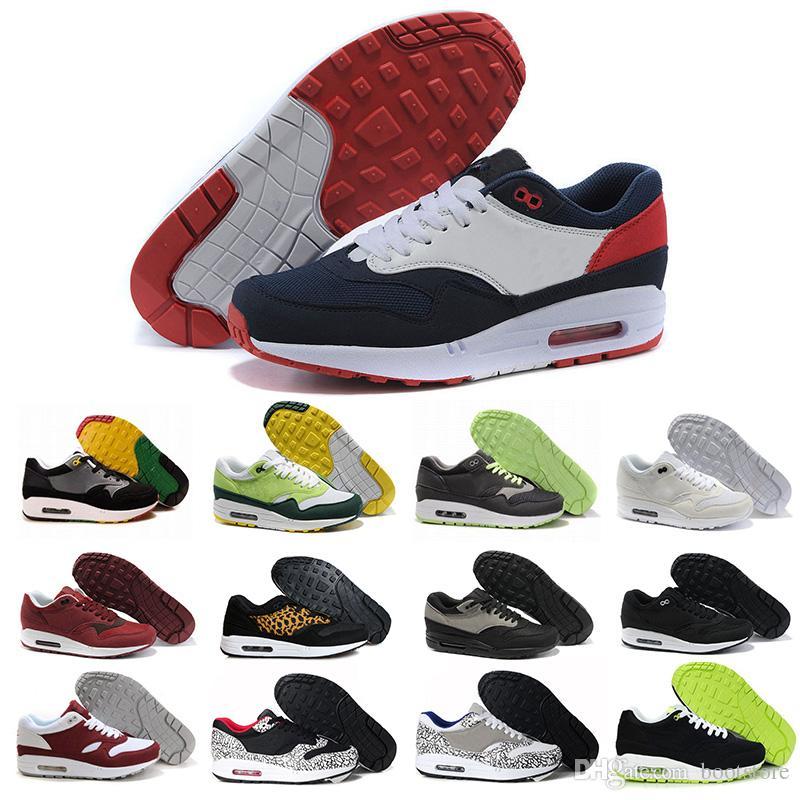 nike air max 1 87 airmax Toptan Hava 87 Atmos 1 90 Gün Premium ay 1 DELUXE En İyi Kalite Erkek Bayan Ayakkabı Running Shoes free shipping size 40-45