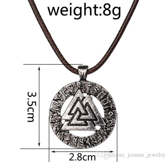 Zinc Alloy Gold//Silver Odin/'s Symbol Pendant Norse Vikings Necklace Chain