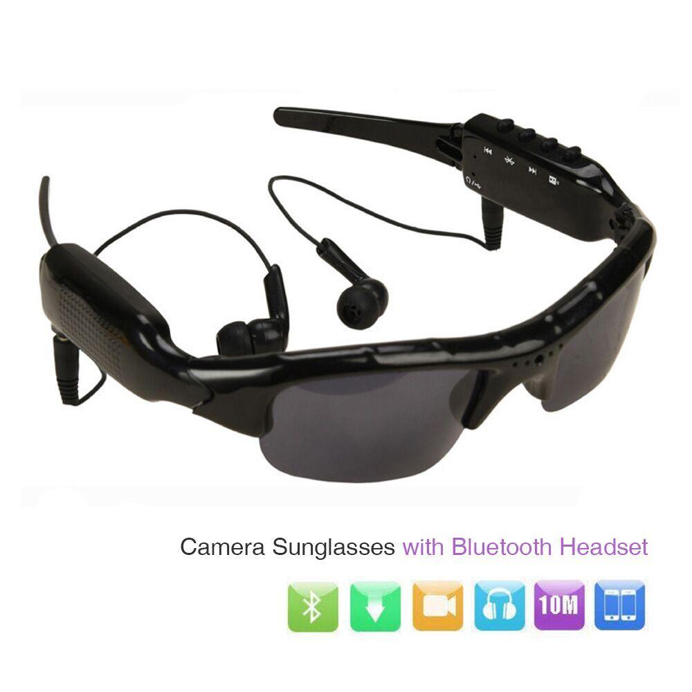 ET HD 1080P Camera Mini DV DVR Camcorder Sunglasses Video Recorder w/ Bluetooth Headphones Stero Music Player Mini Camera Glass