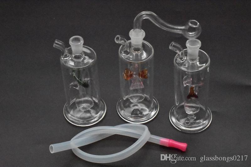 """Beautifull Delicated стеклянные кальяны бонг со шлангом и чашей 5 """" дюймов стекло водопровод толстые pyrex стекло барботер трубы dab буровой установки бонг 1 шт."""
