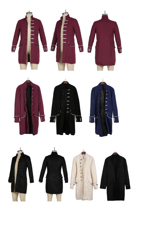 Von Langarm Viktorianischen Männer Gothic Mantel Top Vintage Männlich Goth Steampunk Großhandel Victoria Jacke Bu8501 BoxerCWQdE