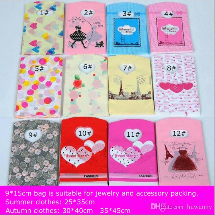 9*15cm Plastic Gift Bag Hot Sale Plastic Jewelry Pouches Bags Jewellery Packaging Wholesale Free Shipping - 0011Pack