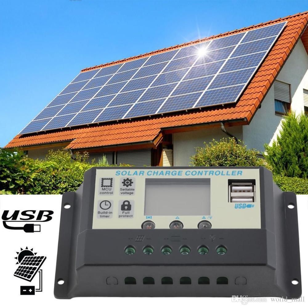 10A 12V 24V 솔라 패널 배터리 충전 컨트롤러 10Amps 소형 태양 에너지 시스템에 적합한 램프 레귤레이터 배터리 핫 세일