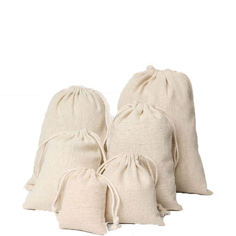 حفل زفاف لصالح عيد الحقائب قلادة سوار مجوهرات كتان الرباط الحقائب العديد من الأحجام أكياس الجوت شعار مخصص أكياس التعبئة هدية