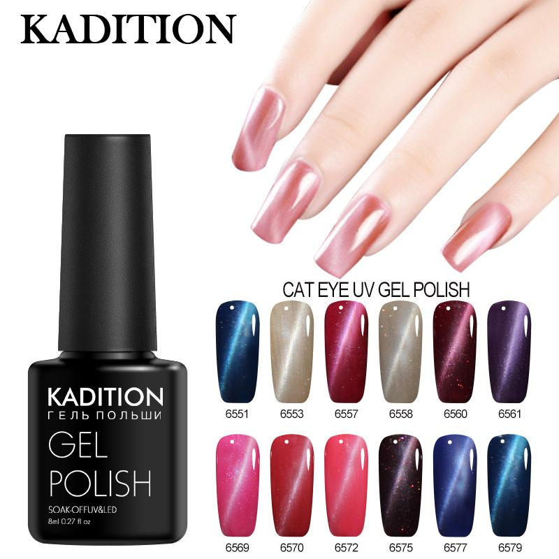 Kadition Hot Sale Magnetic 3d Cat Eye Uv Lamp 8ml Uv Gel Nail