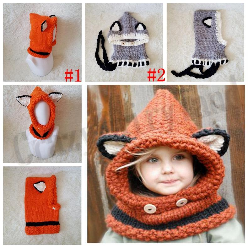 a96a5523c2ed 2019 Scarf Gloves Set Hats Girls Winter Kids Elk Animal Knitted Hood ...