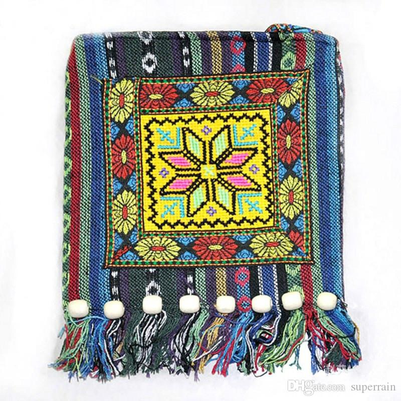 Thai Indian Hmong Boho Hobo Ethnic Embroidered Shoulder Messenger Sling Bag Casual Clutch 3pcs/lot Free Shipping
