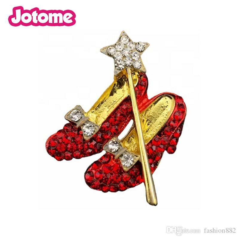 Oz Ayakkabı broş Of Kırmızı Ayakkabı taklidi Kırmızı Yakut Terlik Sihirbazı