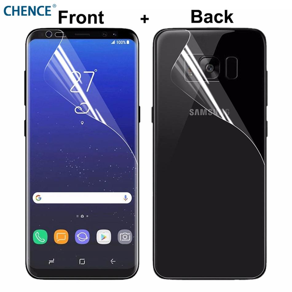 2Pcs/lot Full Cover Front Back Screen Protector For Samsung Galaxy S9 S9 Plus S8 S7 Edge S6 Edge Plus Transparent TPU Soft Film