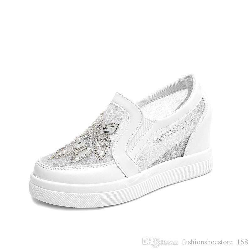 Sapatas da Mulher Modas 2018 Plataforma Sapatos Baixos Mulheres Cunhas de Verão Flats Respirável Deslizamento em Senhoras Sapatos Baixos Mocassins calçados zapatillas