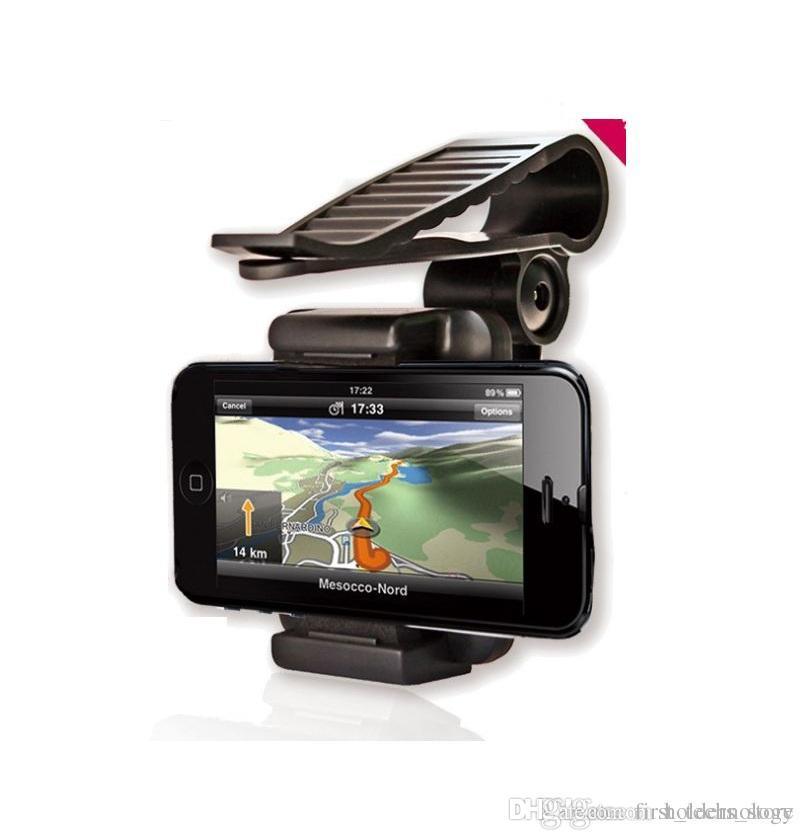 차 일 그늘 차양 방패 전화 홀더 iPhone X 8 7을위한 산을 자전하는 360도 Samsung GPS