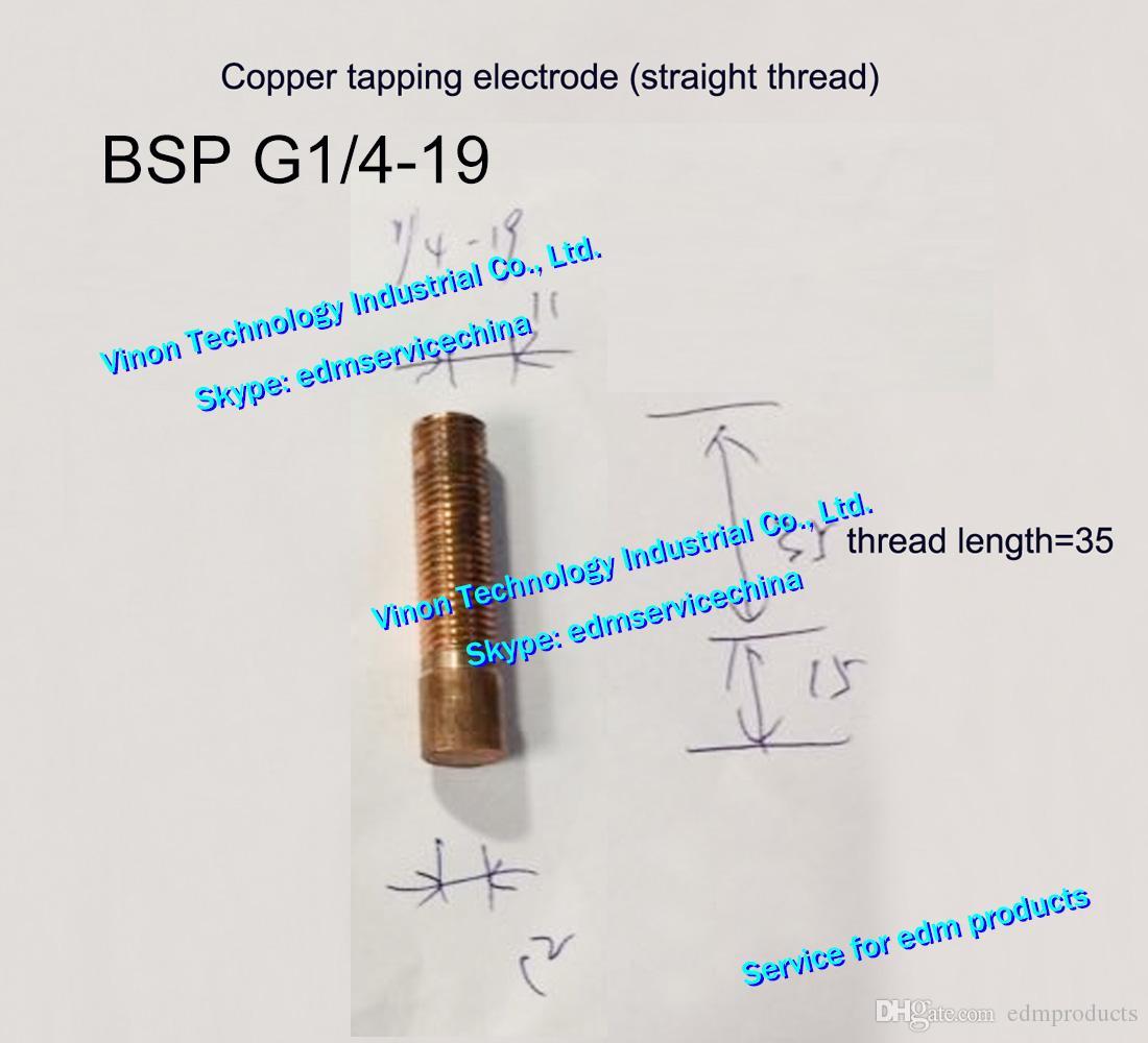 (5 SZTUK) BSP G1 / 4-19 Elektroda gwintu miedziana (prosty typ gwintu) EDM ELECTRODE ELEKTRÓT COPER BSP ORBITAL, BRITISH RURY NIT, Total L = 50mm
