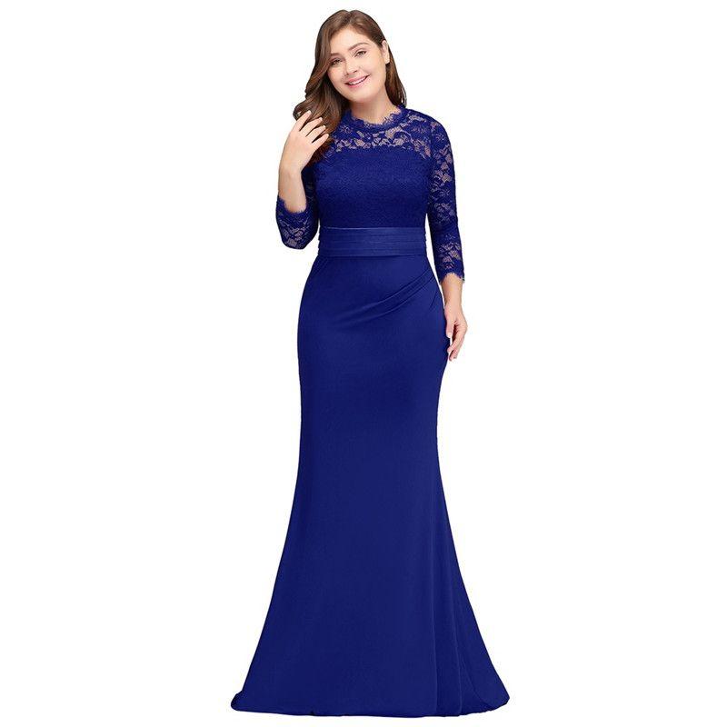 site officiel dernier vente à bas prix Robe De Soiree Longue Plus Size Evening Dresses 2019 Royal Blue Long  Mermaid Evening Party Gown Vestido De Festa Discount Evening Dresses  Dresses For ...