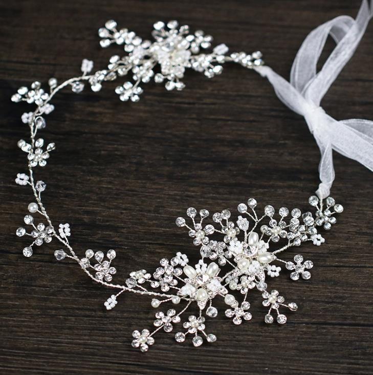 Diamond hair Wedding Bridal Dress headwear, bridal hoop head ring, bridal ornaments
