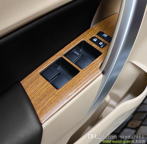 fenêtre de levage interne de la porte 4pcs haute qualité voiture Bouton interrupteur du panneau de protection éraflure, la couverture de décoration pour Toyota Corolla 2014-2017