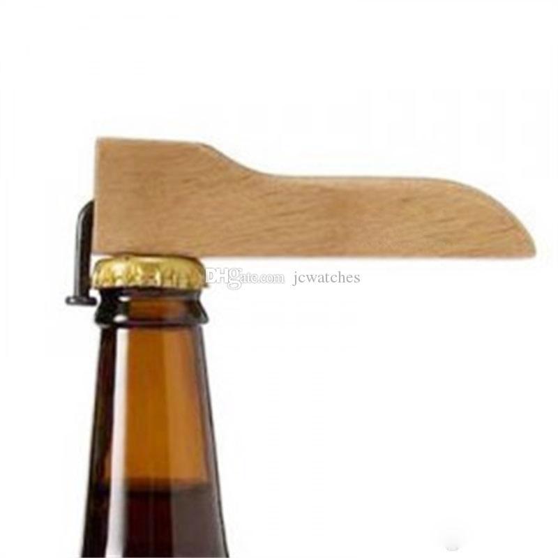 Abre de botellas de cerveza con mango de madera Bebidas de uñas Sacacorchos de cocina Barras de cocina Suministros