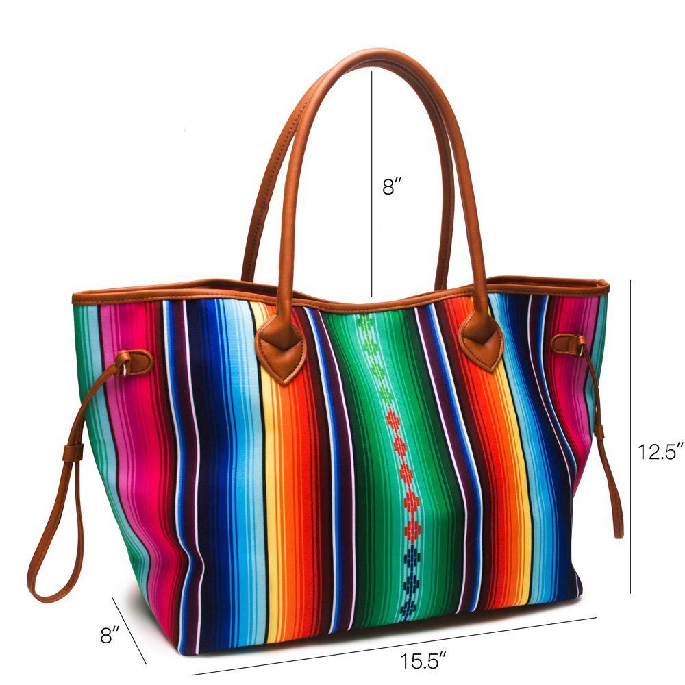 Bolsa Designer Luxo Aztec Aztec Stripe Stripe Aztec Stripes Dom1061086 Saco Grande Bolsa de Serape para Saco Colorido Tote Senhoras Strin CXBK