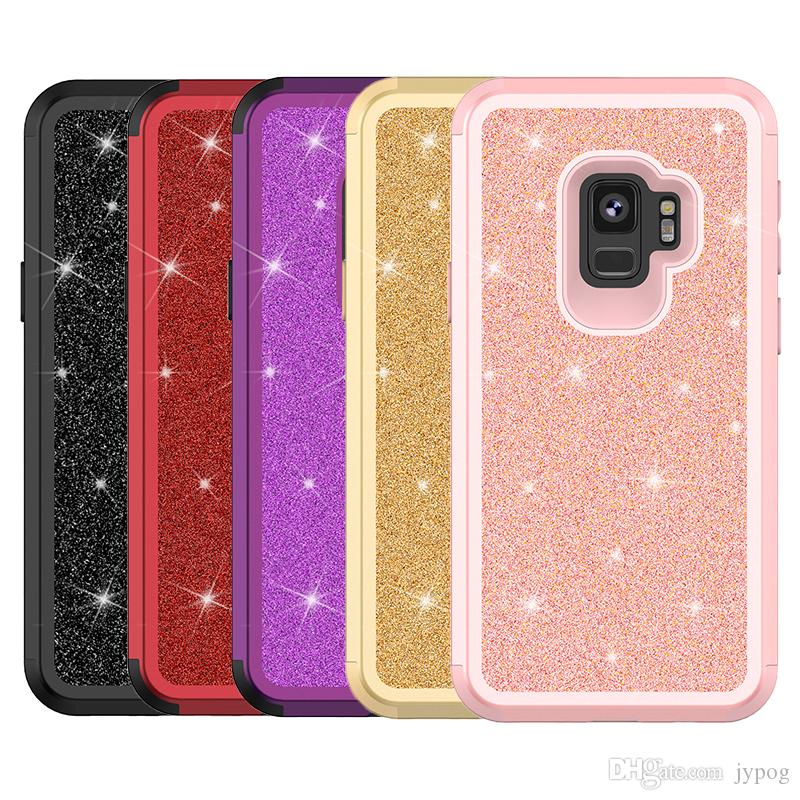 For Samsung S9 Case 3in1 Soft TPU material and Soft Poly Carbonate Shock Absorption Flicker series For Samsung S9