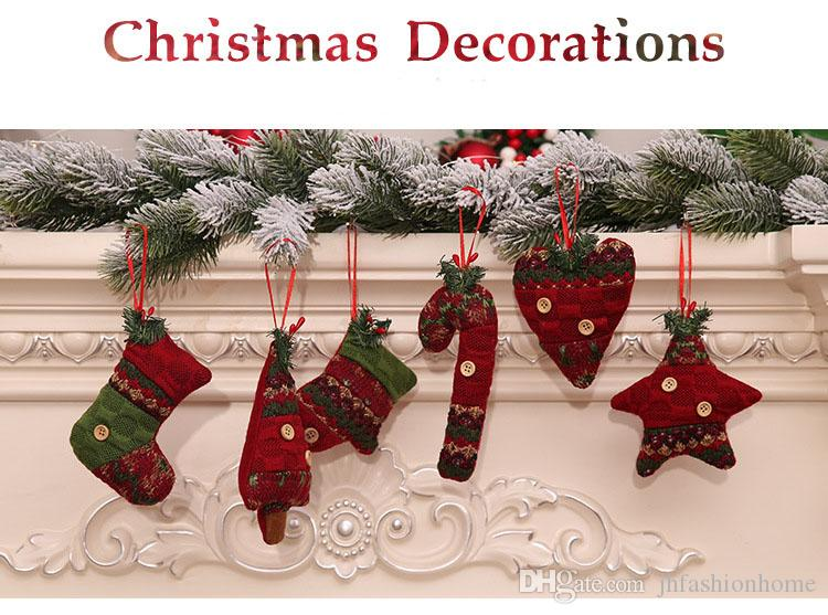 New Christmas decorations Christmas tree pendants creative Christmas stockings glove crutches gifts pendants scenes and costumesve