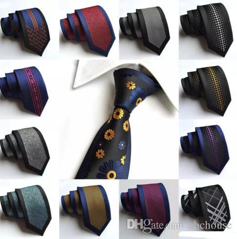 6cm moda uomo sottile cravatte di seta magnifico nobile magro mens cravatte a mano matrimonio cravatta night bar partito cravatte strisce puntini cravatta