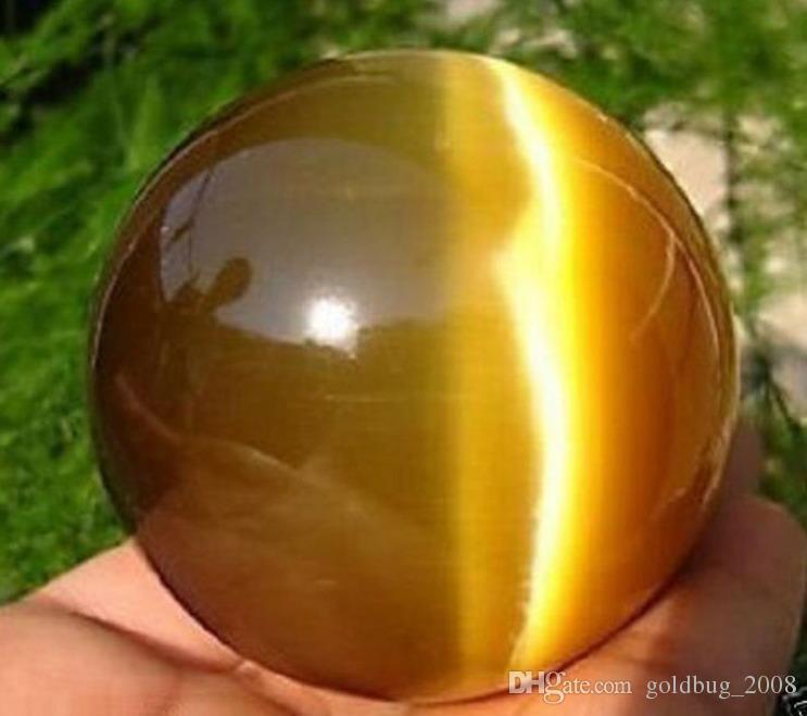 Hot Sell ASIAN QUARTZ TIGER EYE CRYSTAL HEALING BALL SPHERE 80MM + STAND