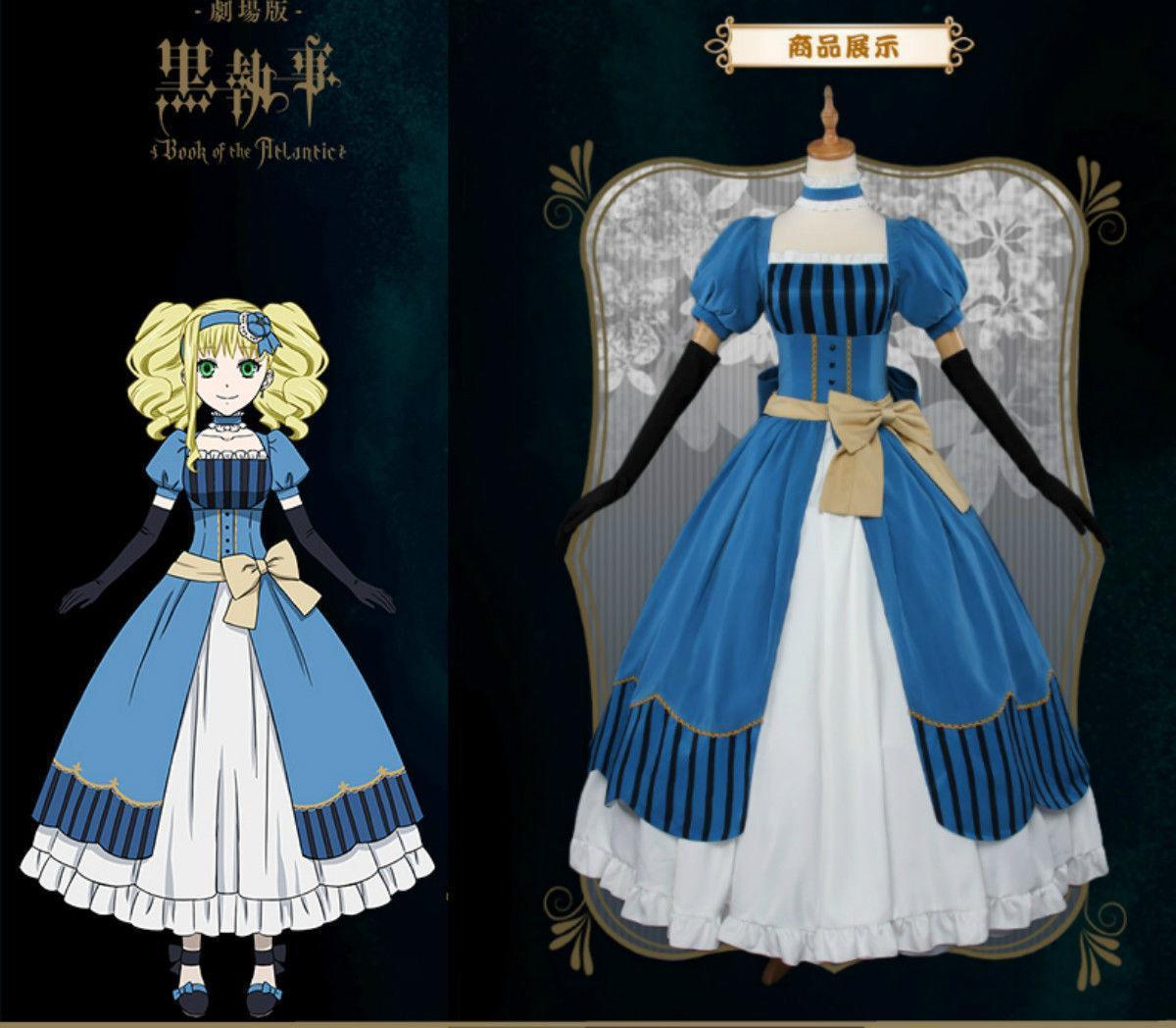 Black Butler Kuroshitsuji Elizabeth Midford(Lizzy)Party Luxury Dress Cosplay