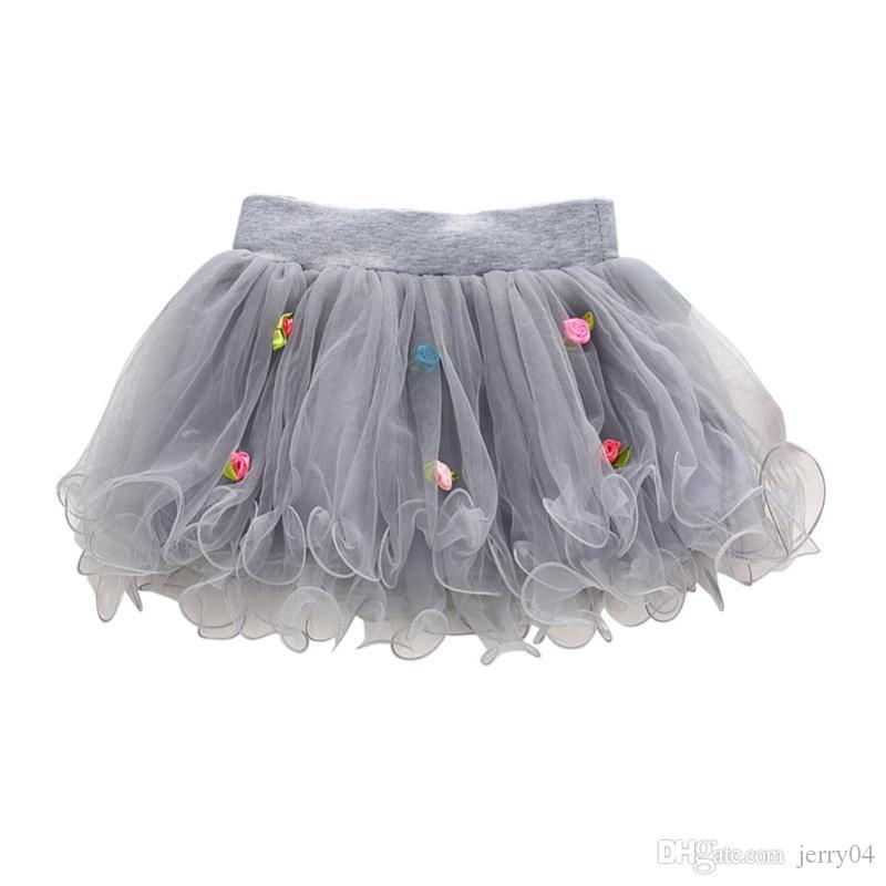 뉴 키즈 소녀 투투 스커트 꽃 파티 볼 가운 공주 레이스 어린이 미니 스커트 1-4Y X16
