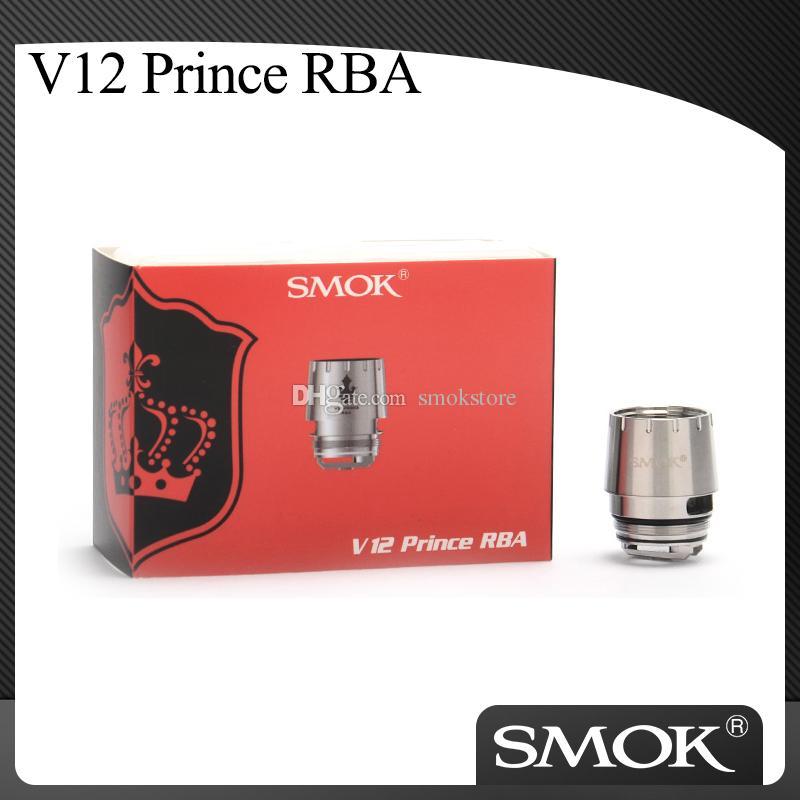 Autentica SMOK V12 principe RBA con Dual bobine 0.25ohm V12 TFV12 principe Coil Per TFV12 principe Serbatoio 100% originale