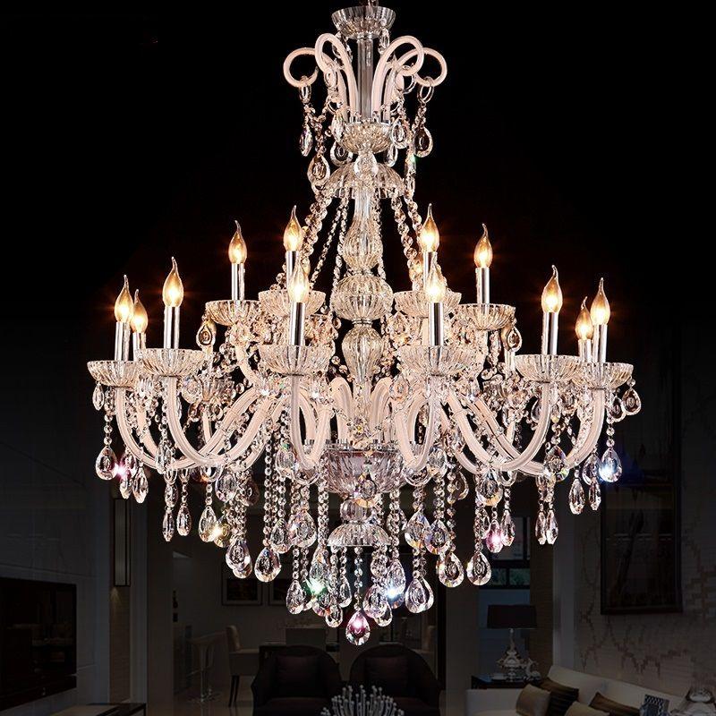 FREE SHIPPING LED Crystal Chandelier Lighting Fixture Luxury Large Crystal Lustres de crYstal Living Room chandelier