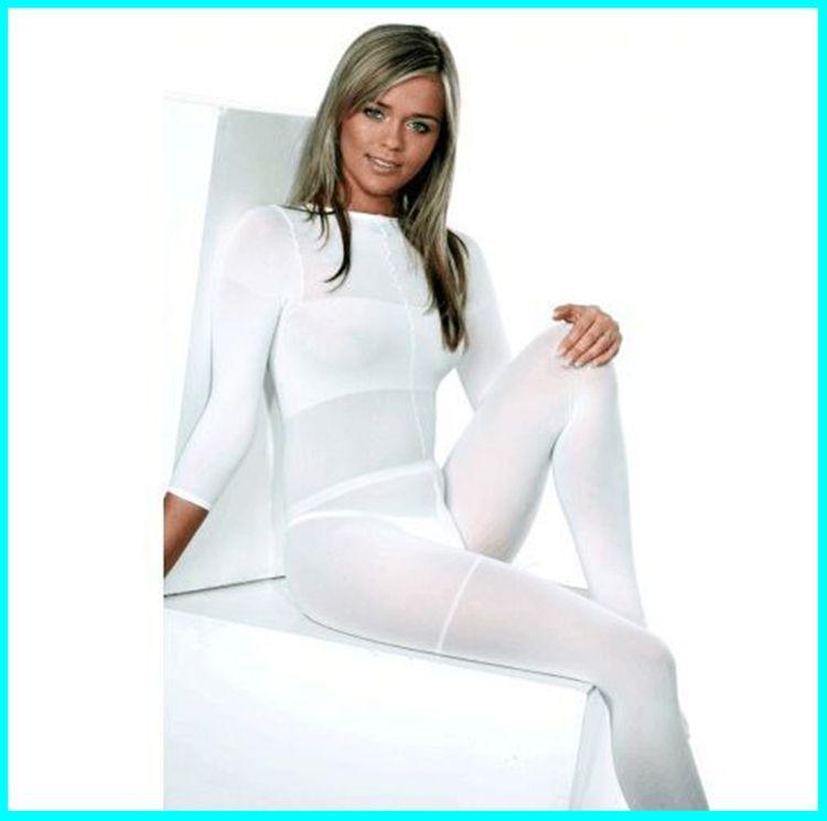 2019 HOT SALE !!! Белый / Черный Roller LPG массаж тела костюм для похудения вакуумный костюм для Velashape терапии машина CE / DHL Бесплатная доставка
