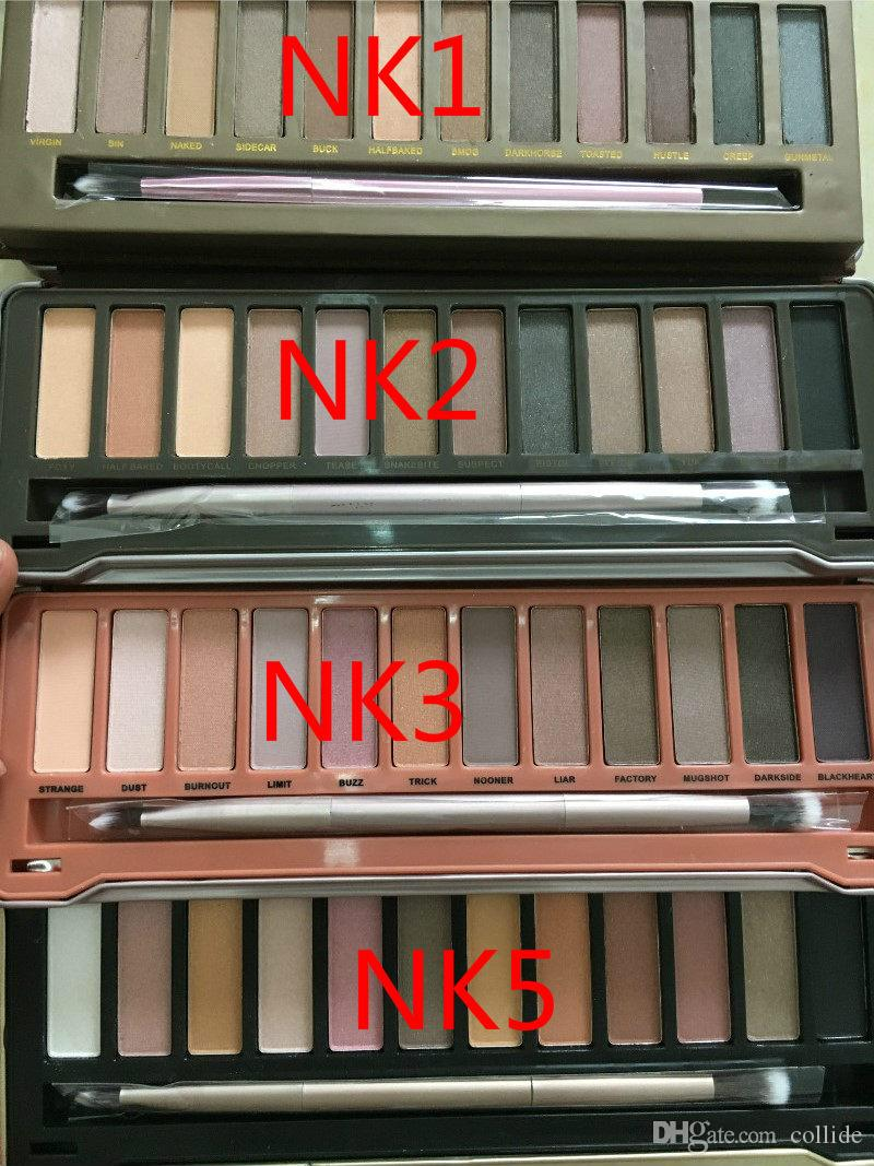 Hot nude palette Il 1 ° 2nd 3rd 3rd Generation Makeup Novità 12 colori Cosmetic Shimmer Matte Eye Shadow con pennello M301 1pz