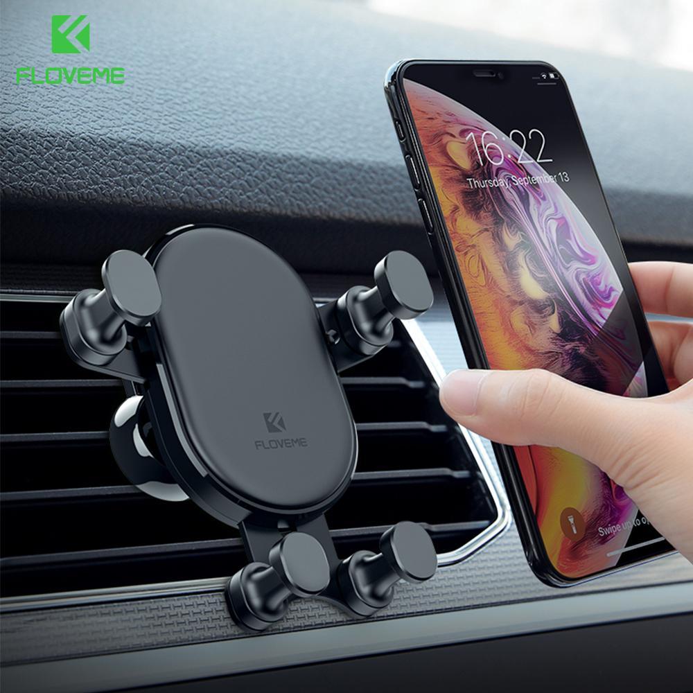 gros voiture Support de téléphone grille d'aération Téléphone support voiture pour iPhone X Xiaomi Gravity Phone Holder Smartphone Voiture