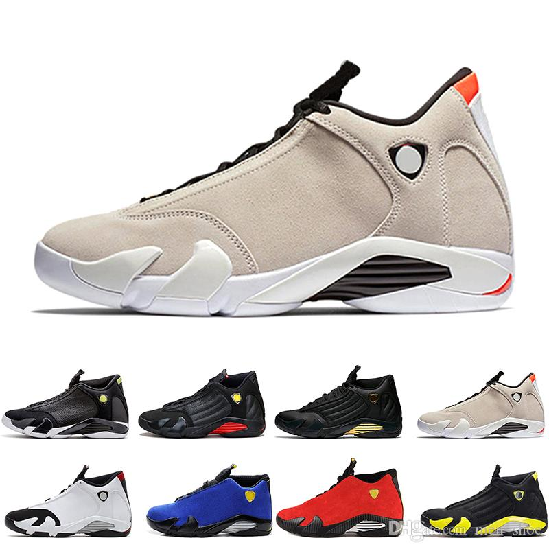 14 14s mens Basketball Shoes Desert Sand DMP Last Shot Indiglo Thunder Red Suede Oxidized Black Toe men Sports Sneakers trainers designer
