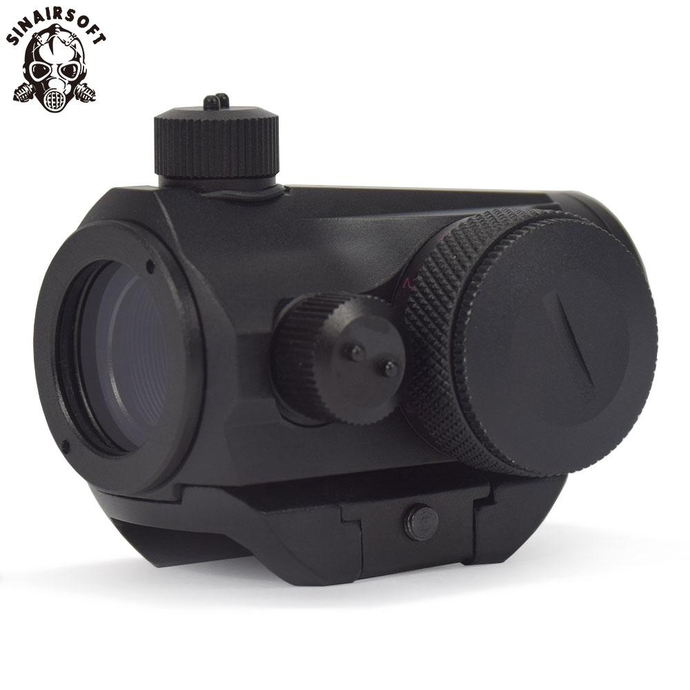 Sinairsoft New Tactical Mini Micro T-1 Red & Green Dot Sight Reflex Sight Rifle Scopes With 21 mm Picatinny Mount For Airsoft Hunting