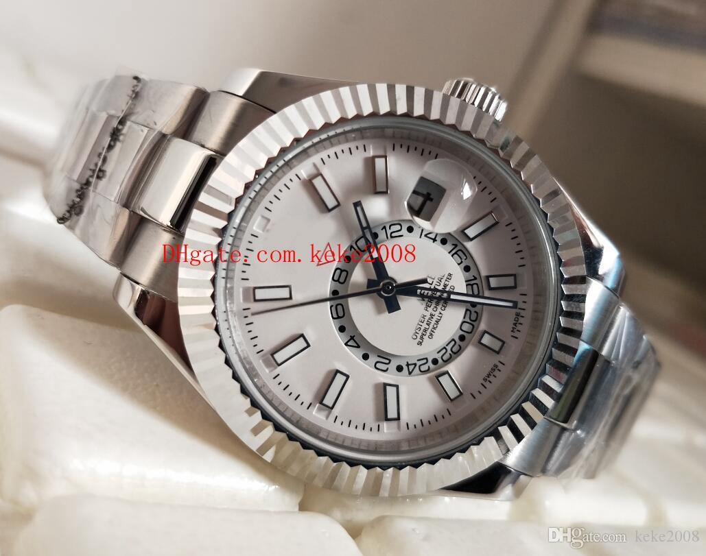 Relógio De Pulso De Luxo De alta qualidade Sky Morador m326933-0002 326933 42mm Branco Dial Aço InoxidávelAsia 2813 Movimento Automático Homens Assista Relógios