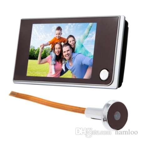 3.5 인치 디지털 도어 카메라 현관의 LCD 컬러 화면 120 학위 엿보기 뷰어 도어 아이 현관의 옥외 문 벨