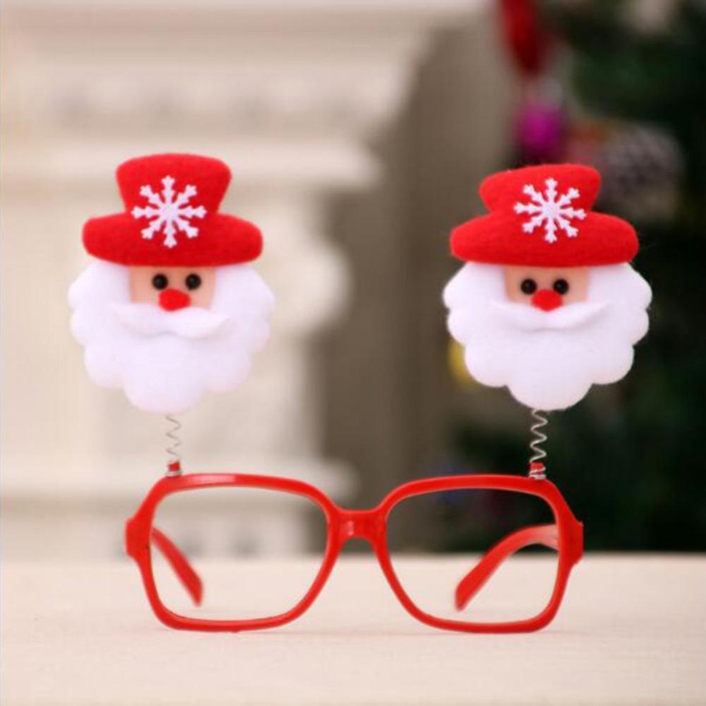 Christmas Frame Glasses Ornaments Pupazzo di neve Occhiali Caus Occhiali da sole per bambini per adulti Regalo di Natale Decorazioni per feste Puntelli